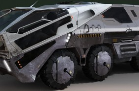 Final approved sketch of the rover